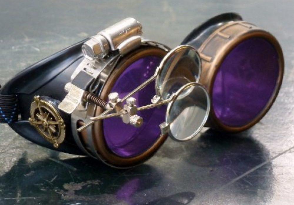 Steampunk Victorian Purple Welding Goggles