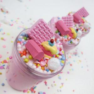 Strawberry Birthday Cake Slime with Charm (Scented)