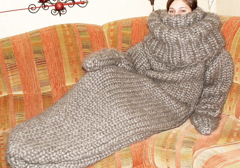 Strickolino Knitted Turtleneck Sleeping Bag Made to Order Items