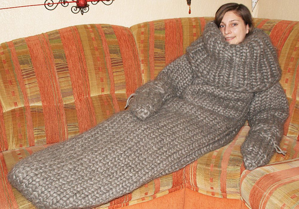 Strickolino Knitted Turtleneck Sleeping Bag Novelty Item