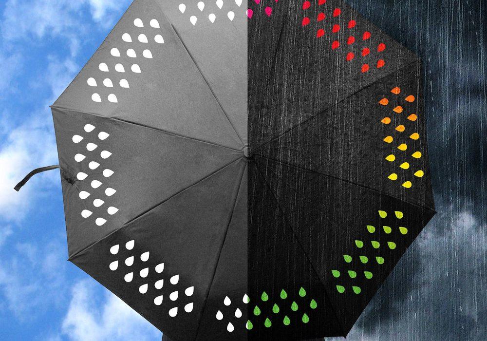 Suck UK Color Changing Umbrella Chic Novelty Item