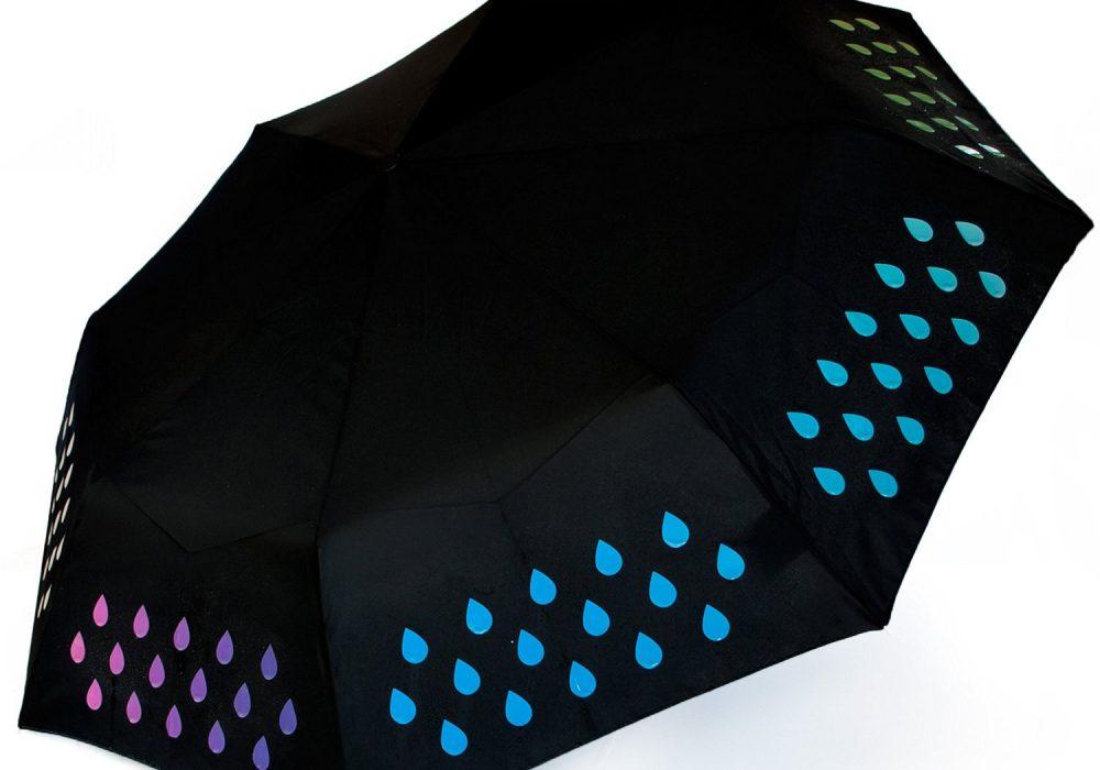Suck UK Color Changing Umbrella Raibow Color