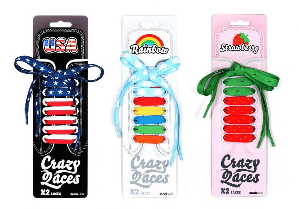 Suck UK Crazy Laces Cool Gift Idea to Buy For Kids
