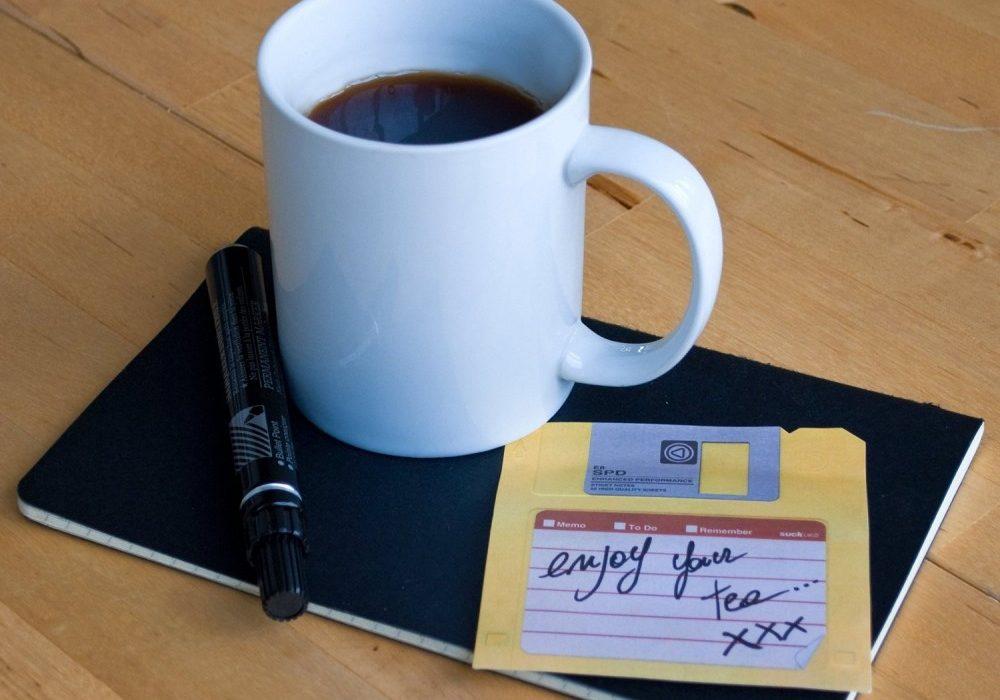 Suck UK Floppy Disk Sticky Notes Gag Gift Idea