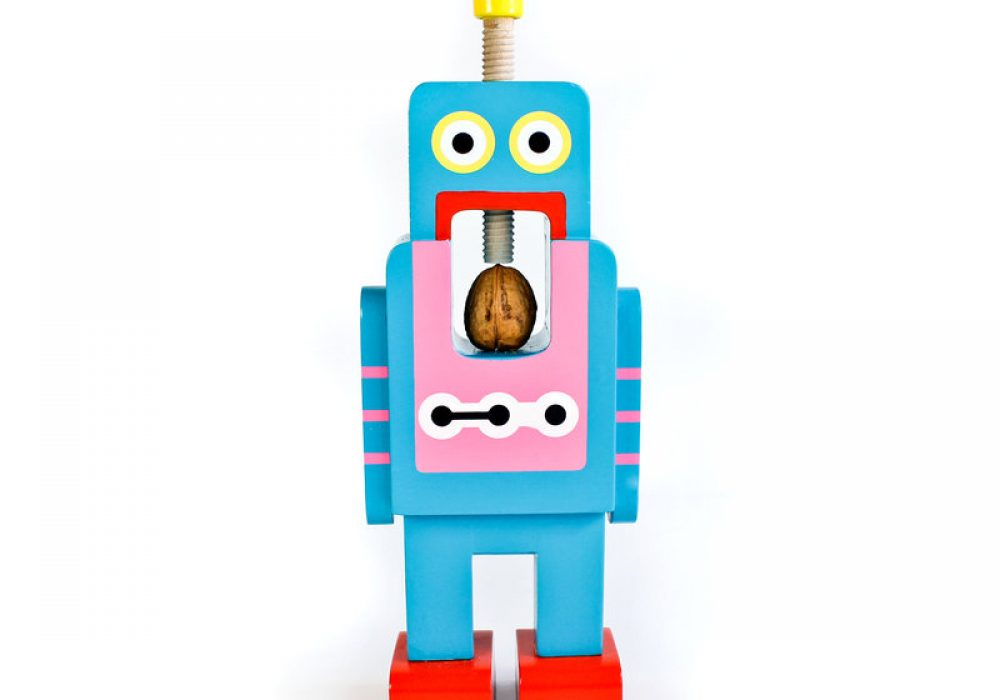 Suck UK Robot Nutcracker Blue Robot Front