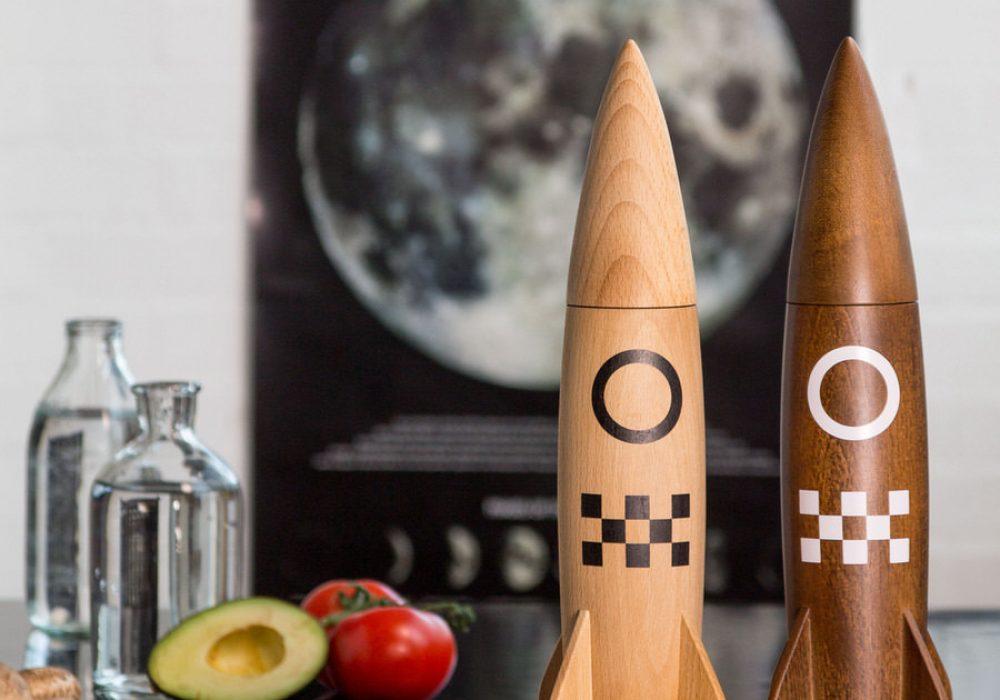 Suck UK Salt and Pepper Rocket Mill Manly Kitchen Gadget