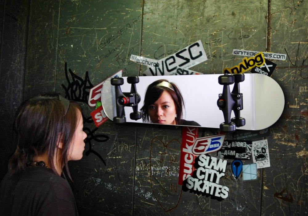 Suck UK Skate Mirror Cool Stuff to Buy for Bedroom