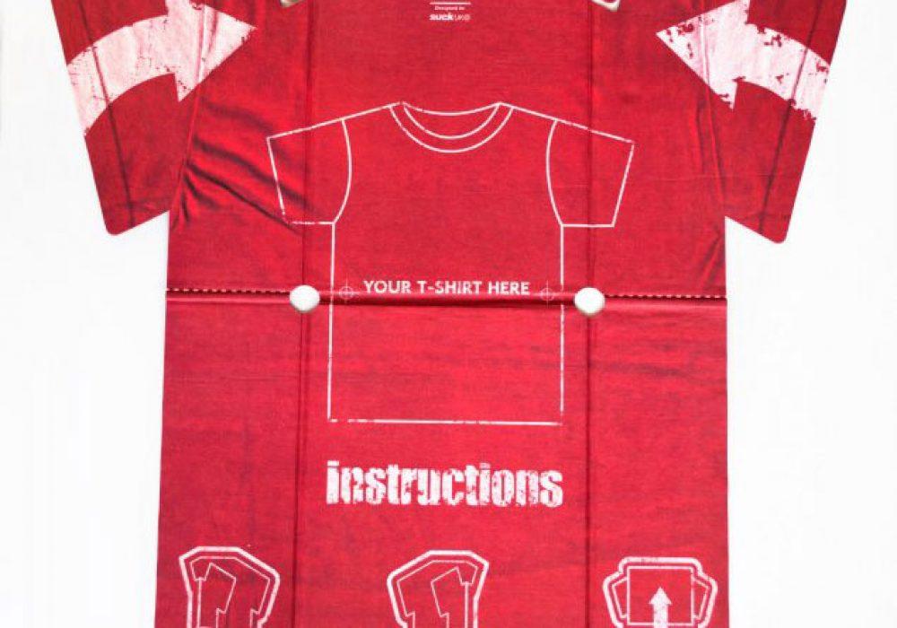 Suck UK T-shirt Folder How to Perfectly Fold Laundry