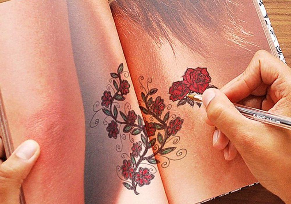 Suck UK Tattoo Art Drawing Notebook Nice Gift for Artist
