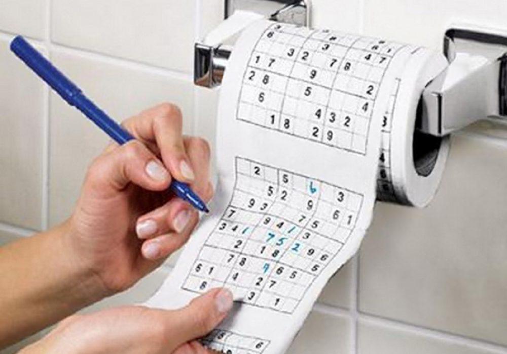 Sudoku Roll Toilet Paper Cool Bathroom Stuff to Buy