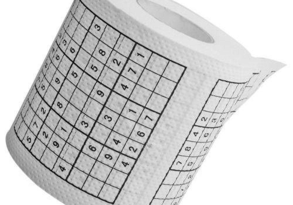 Sudoku Roll Toilet Paper Unique Gift Idea