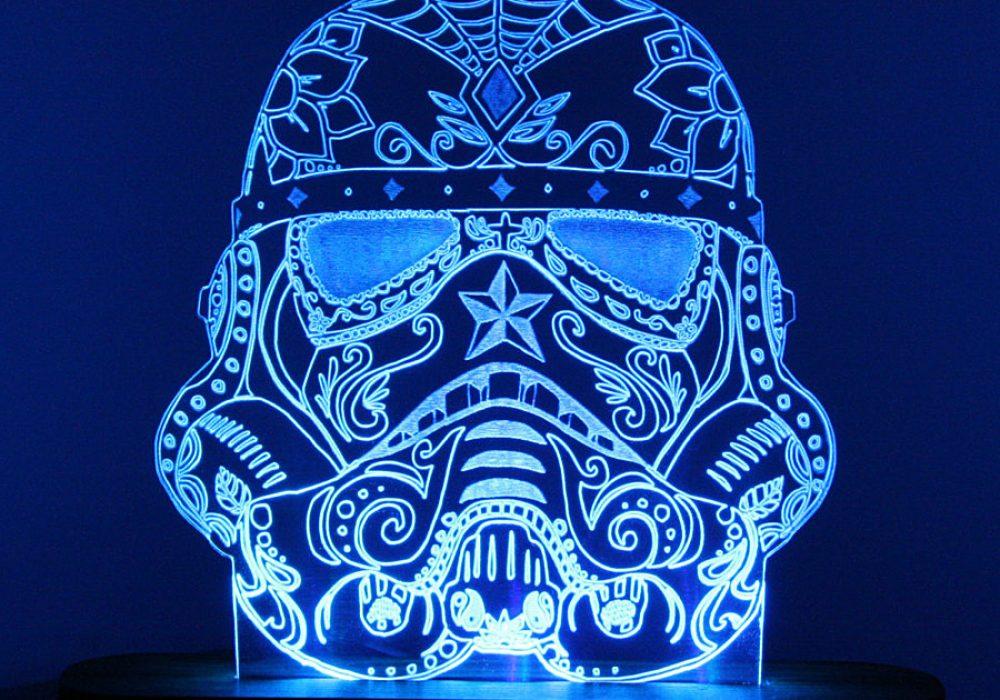 Sugar Skull Stormtrooper Night Light Cool Desk lamp