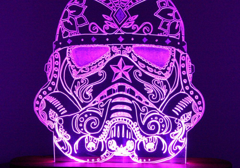 Sugar Skull Stormtrooper Night Light Great for Dimming your Room