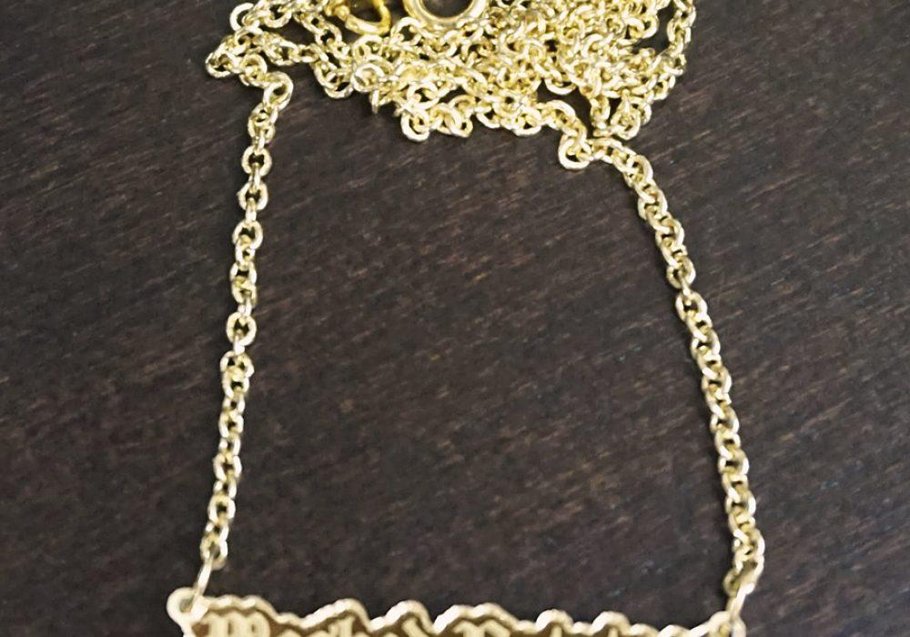 Supah Gothic Mashed Potatoes Mirror Acrylic Necklace Good for Fashion