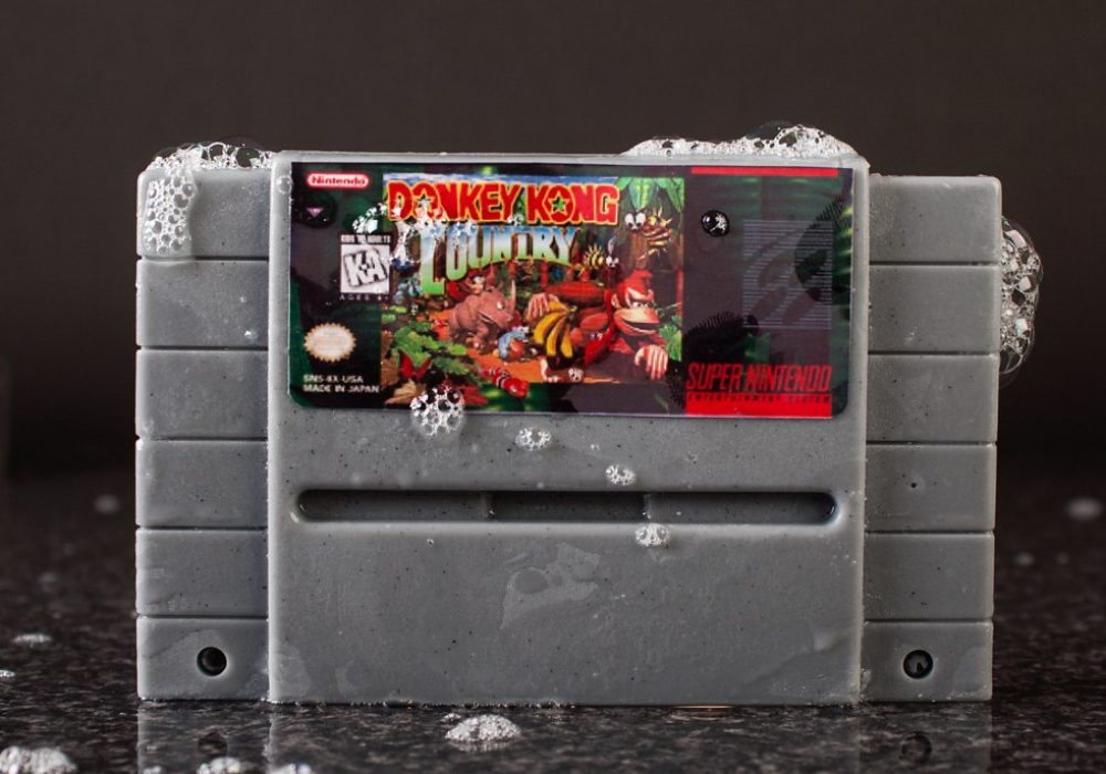 Super Nintendo Gamer Soap Cartridges Donkey Kong Country SNES Bath