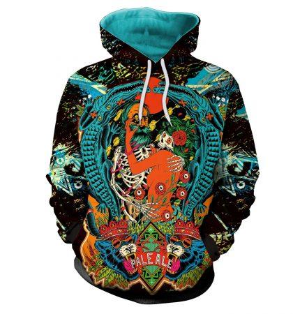 Guys Hoodies & Sweatshirts Crocodile Pirate Cougar Tattoo Style
