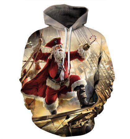 Guys Hoodies & Sweatshirts Santa Clause Pirate