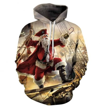 Guys Hoodies & Sweatshirts Santa Clause Pirate