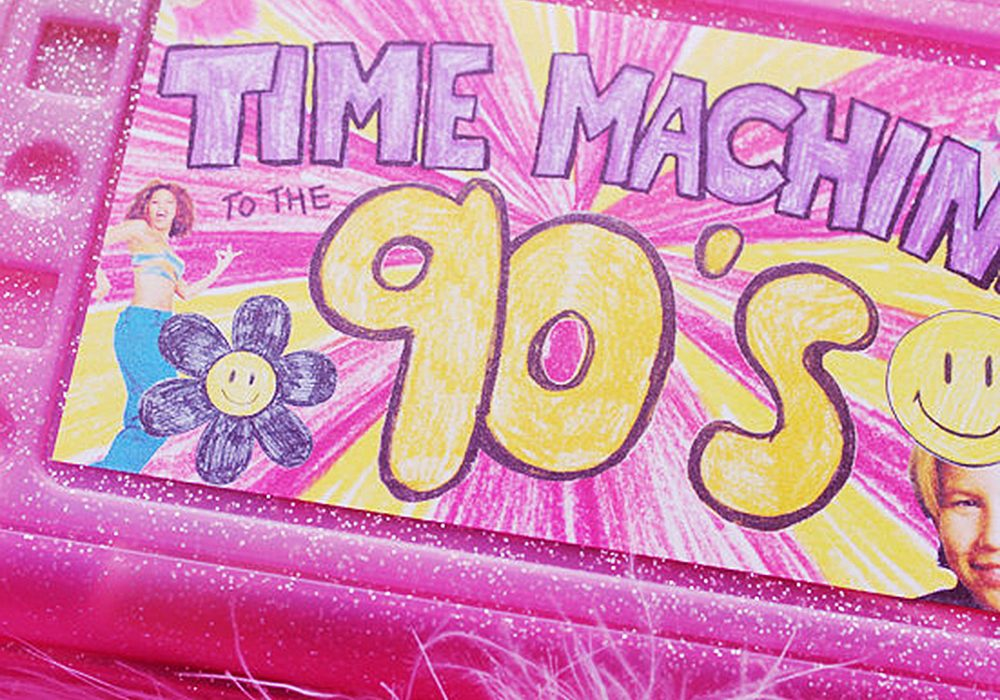 Sweet and Lovely Time Machine To The 90s Nostalgia Kit Amazing Storage