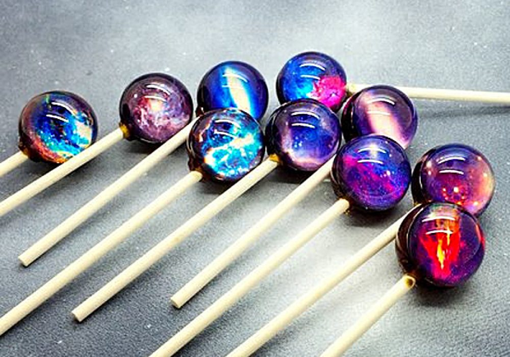 Sweetbites Confections Galaxy Lollipops Artistic Candy