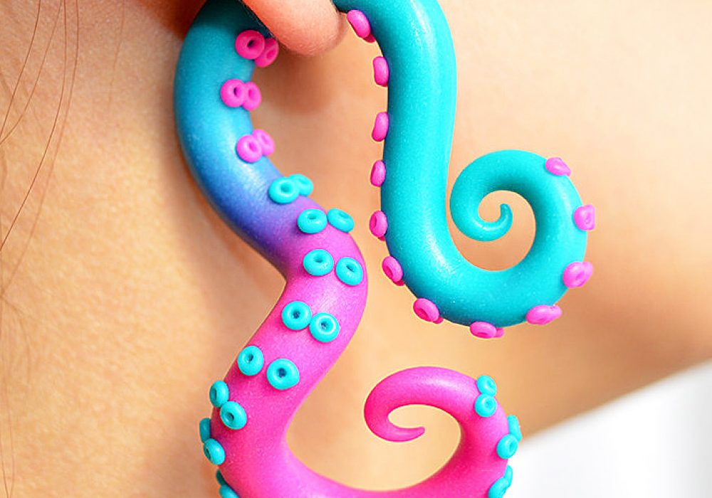 Tania Chernova Tricolor Octopus Gauge Gift Idea For Teenager