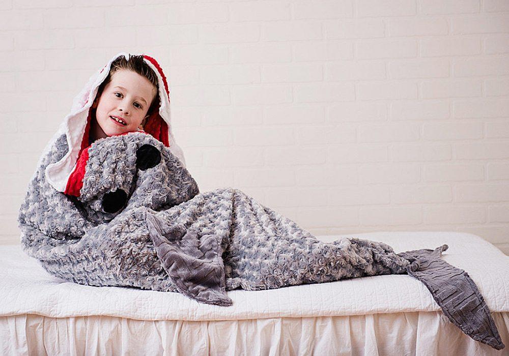 Tara's Cozy Creations Shark Blanket Gift for Kids