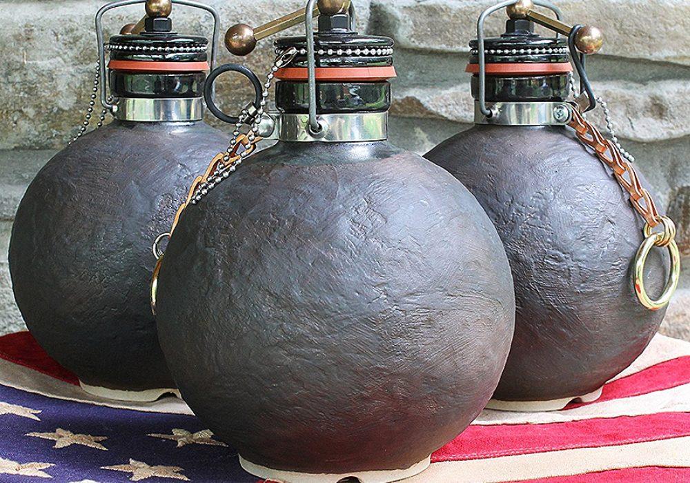 Terracotta Republic Cannonball Beer Growler Stoneware