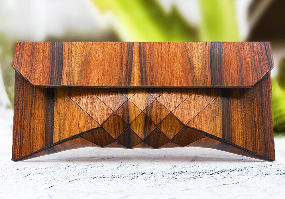 Tesler Mendelovitch Wood Clutch Gift Idea For Her