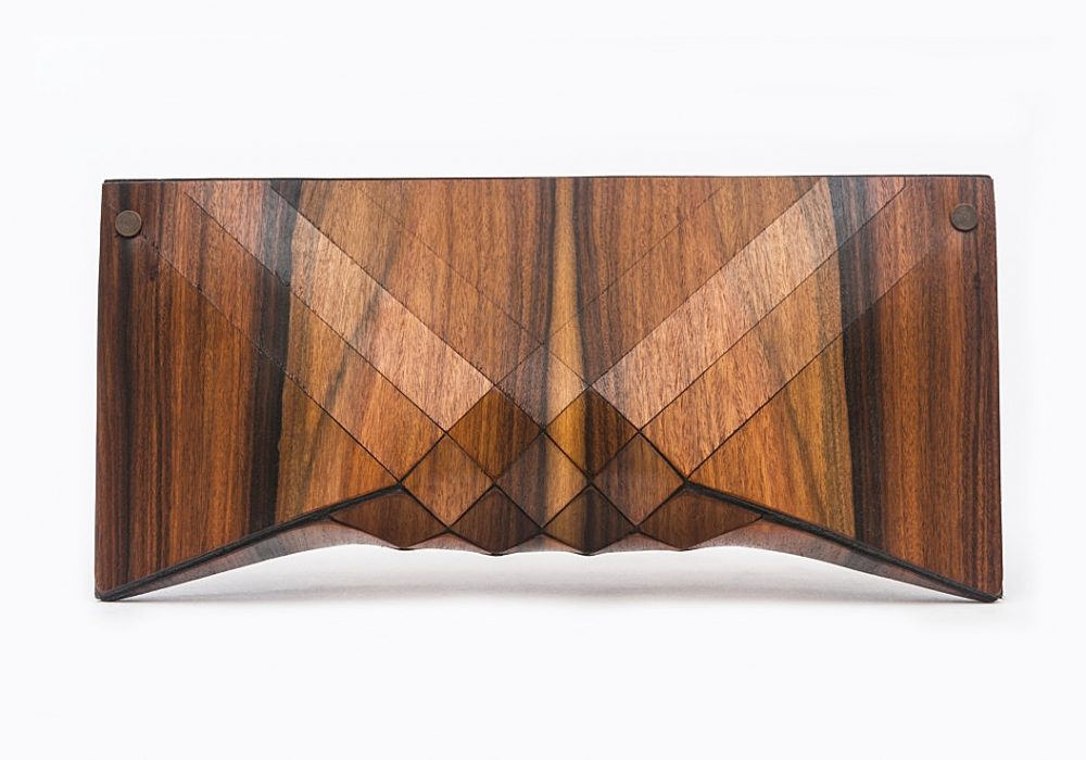 Tesler Mendelovitch Wood Clutch Unique Bag Material