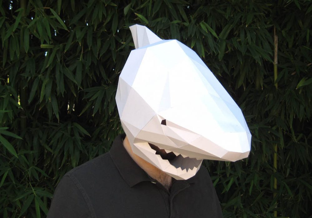 Tetra Variations DIY Paper Shark Mask Sharkweek Costume