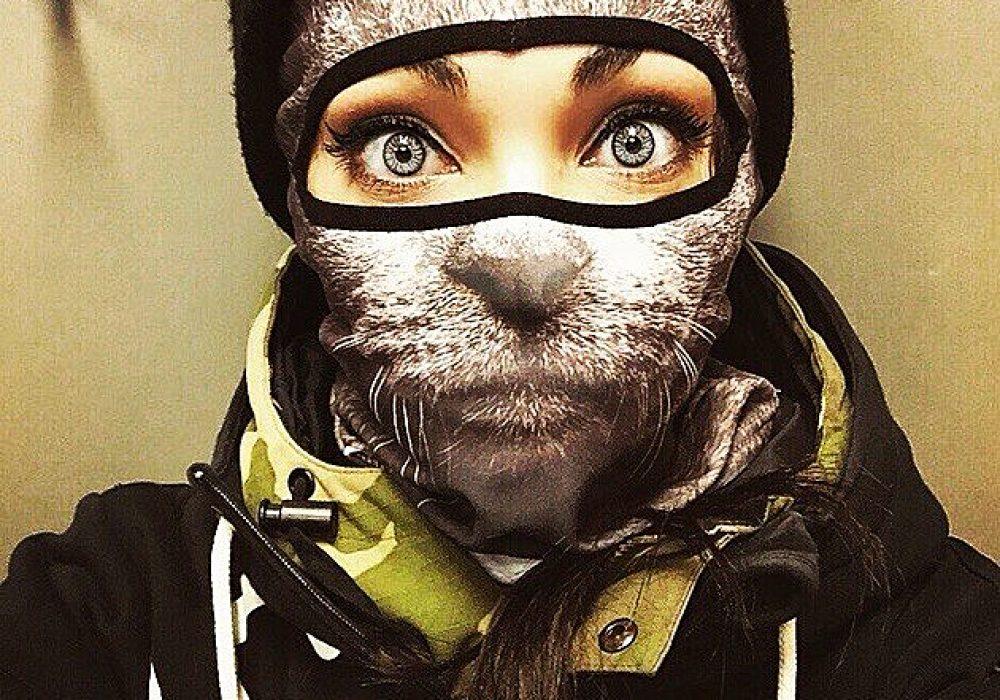 Teya Salat Animal Ski Mask Grey Cat Balaclava