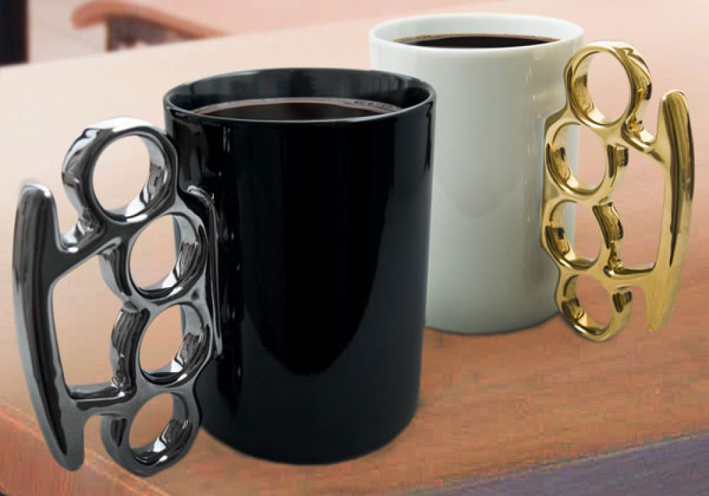 Thabto Knuckle Duster Mug Cool Manly Gift Idea