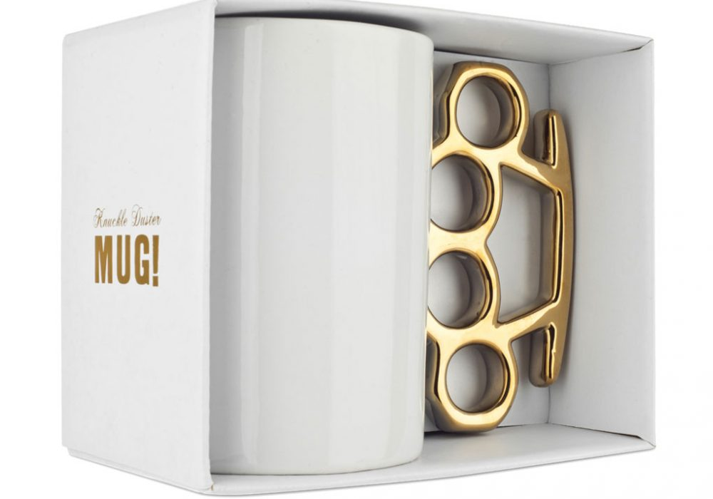Thabto Knuckle Duster Mug White Gangster Style