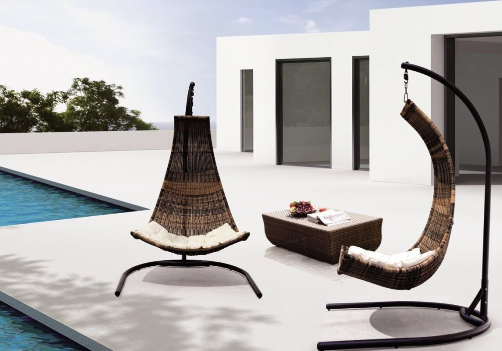 Thais Balance Curve Porch Swing Chair Cool Outdoor Furniture