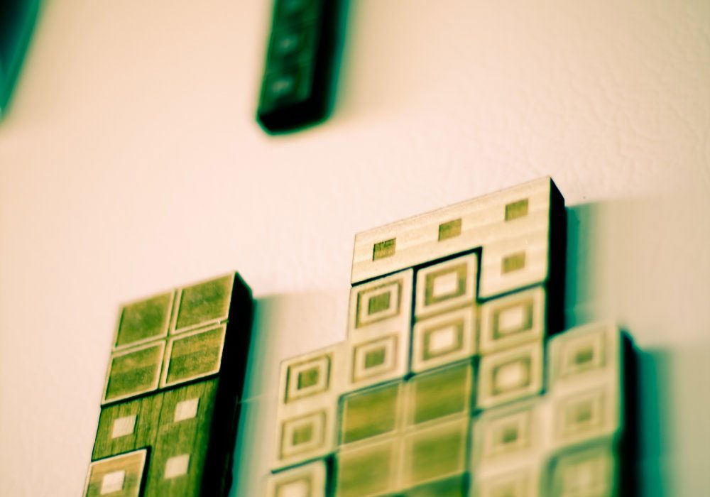 The Back Pack Shoppe Tetris Magnets Wooden Version