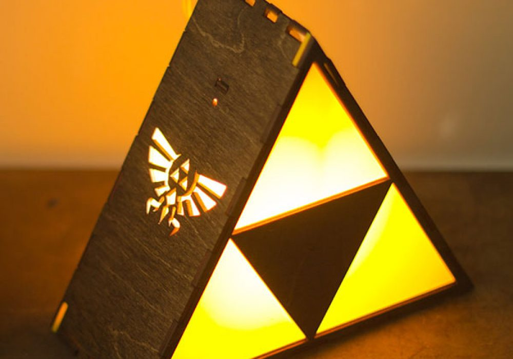 The Back Pack Shoppe Zelda Triforce Lamp Geek Bedroom Design