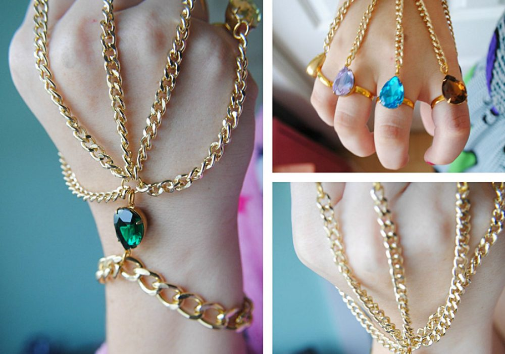 The Beee Hive Avengers Inspired Infinity Gauntlet Handchain Fashionable Accessory