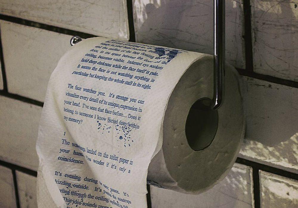 The Drop Horror Novel Toilet Roll Halloween Bathroom Decoration to Buy