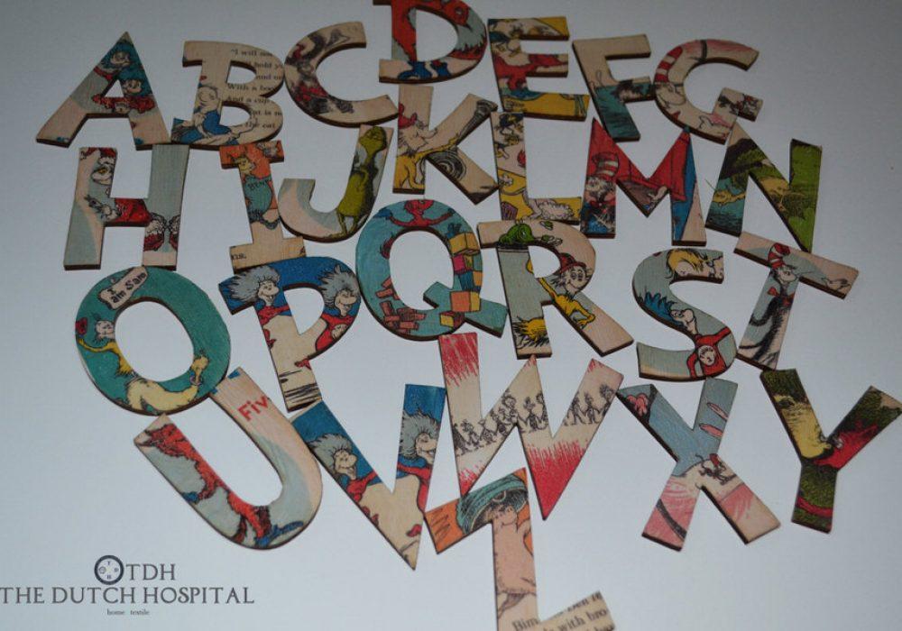 The Dutch Hospital Dr. Seuss s ABC Alphabet Letter Set Buy for Kids Room