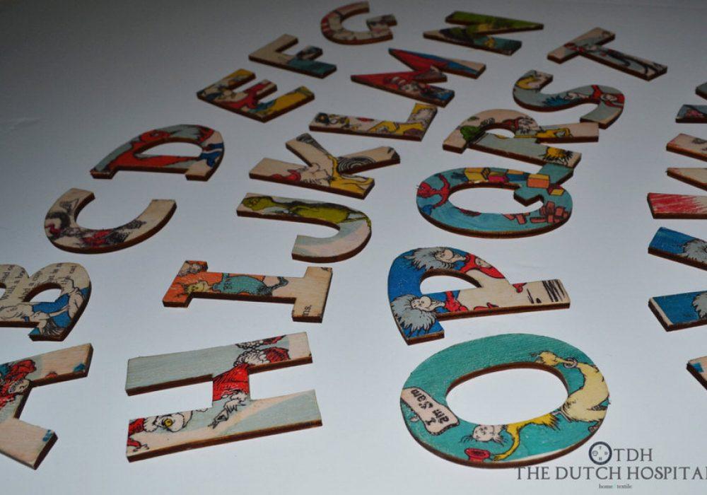 The Dutch Hospital Dr. Seuss s ABC Alphabet Letter Set Vintage Style