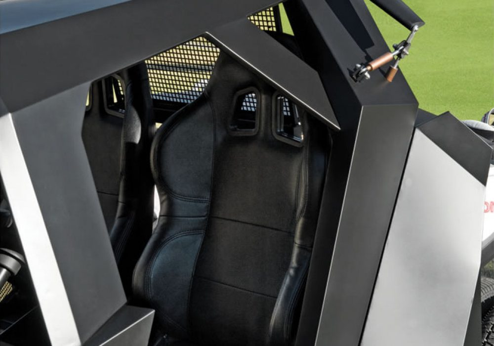 The Gotham Golfcart Leather Seats Military Grade Material