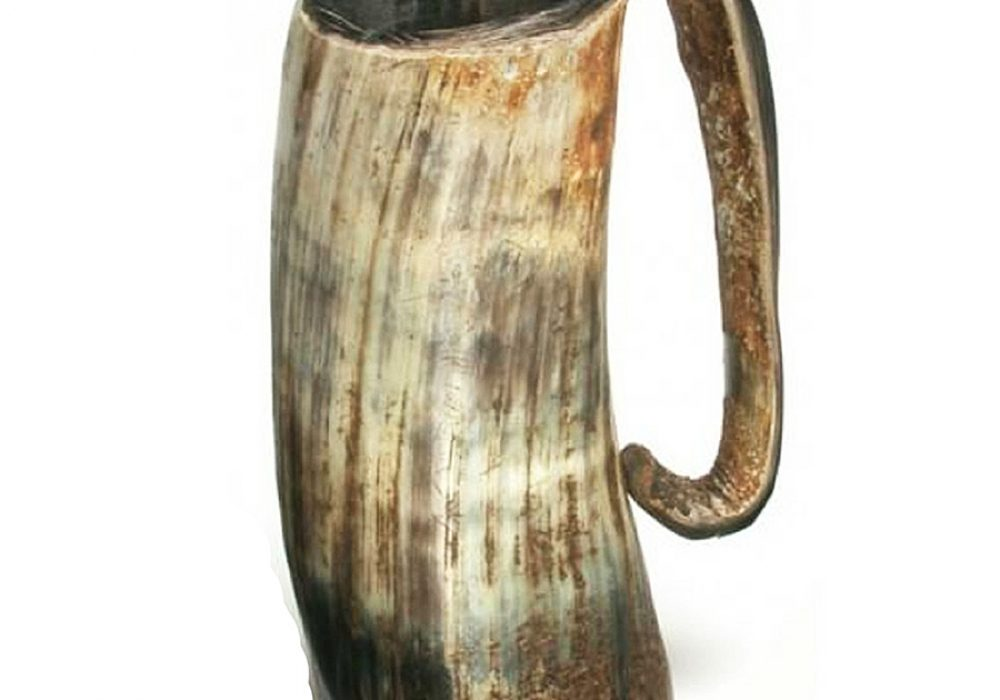 The Mughal Bazaar Horn Beer Mug Uniquely Colored and Shaped