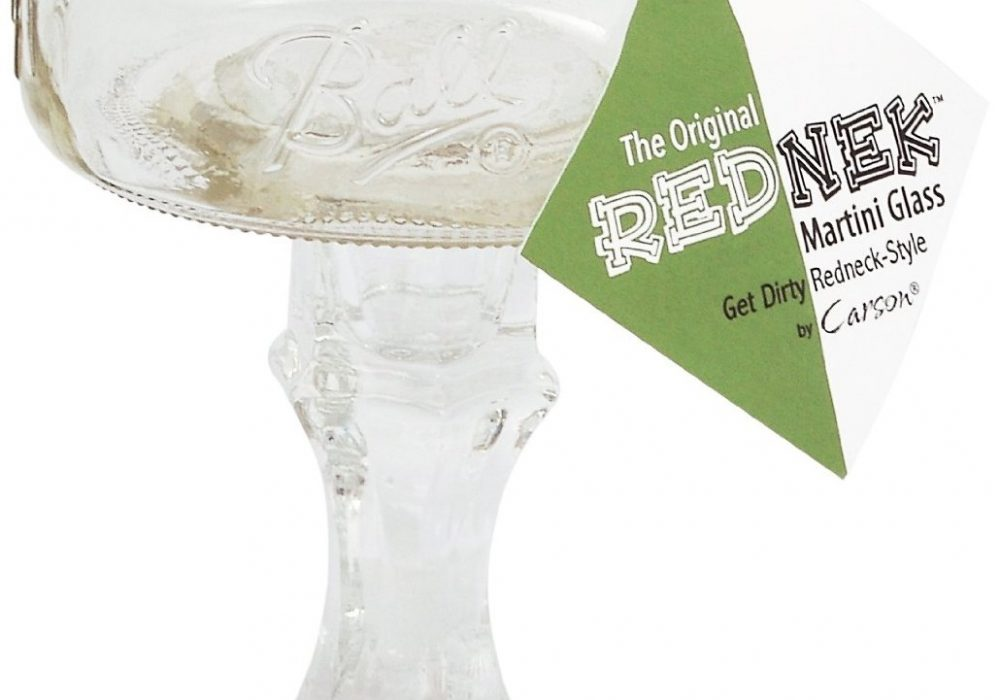 The Original Rednek Tini Glass with Tag