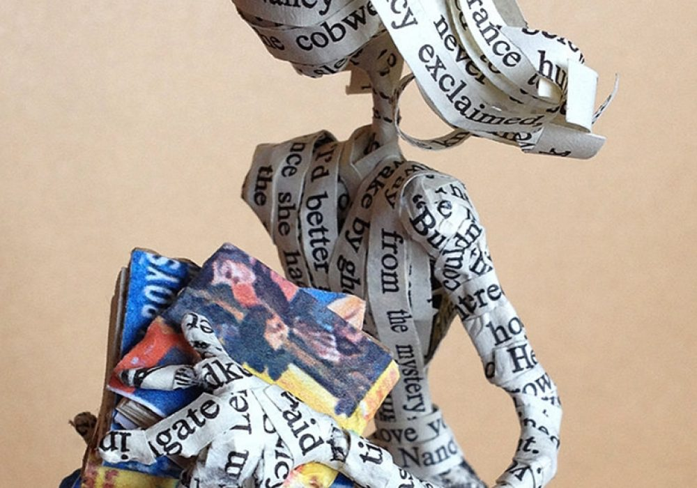 The Poet Trees Nancy Drew Paper Sculpture Handcrafted Product