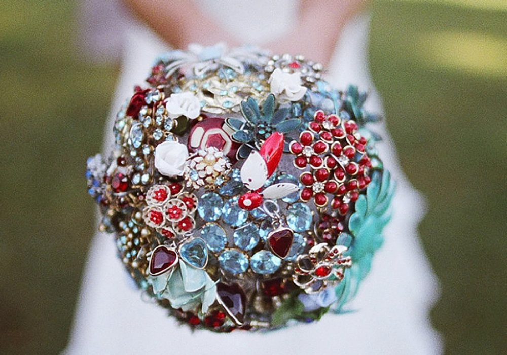 The Ritzy Rose Brooch Handcrafted Bouquet Bride Accessory