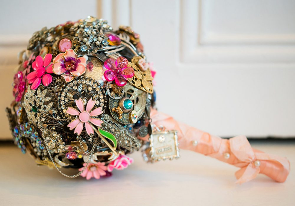 The Ritzy Rose Brooch Handcrafted Bouquet Flower