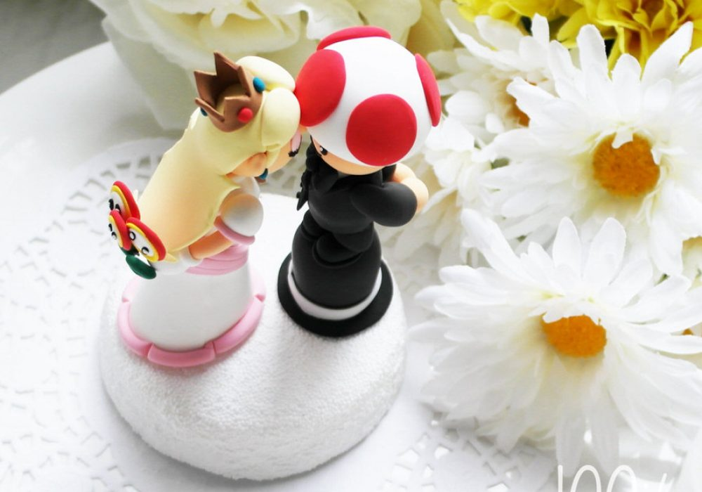 The Rosemarry Toppers Custom Mario Wedding Cake Topper Cute