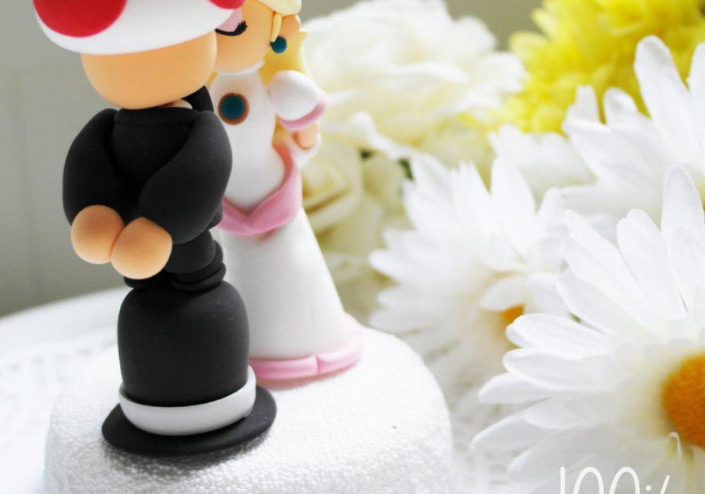 The Rosemarry Toppers Custom Mario Wedding Cake Topper Unique Design