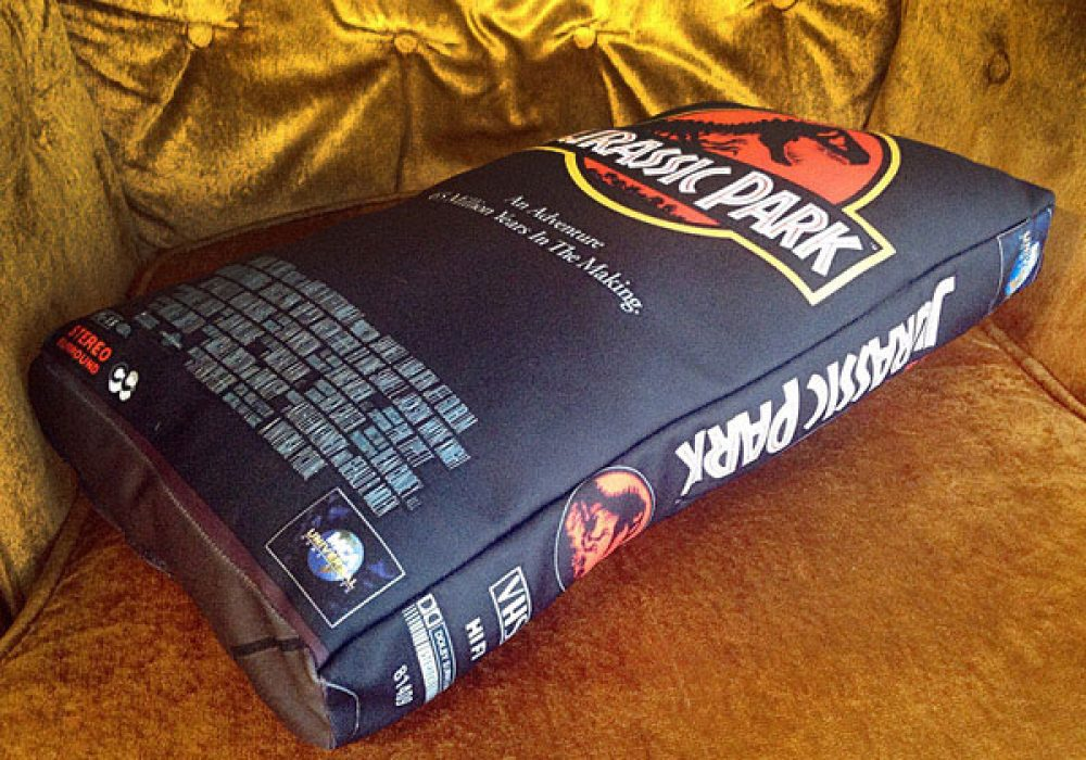 The UFO Party Oversized VHS Pillow Jurassic Park