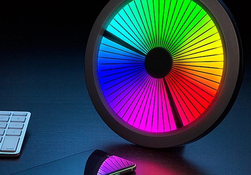 ThinkGeek Chromatic LED Color Spectrum Clock Full Color